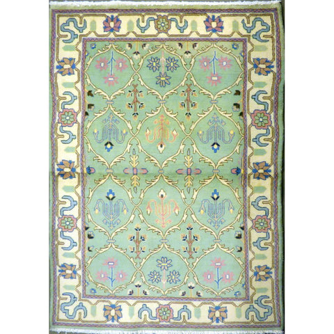 "persian rug sarough Traditional Style Hand-Knotted Indoor Area Rug with Natural Wool and Cotton (6'7"" X 4'0"") ABCRG1061"