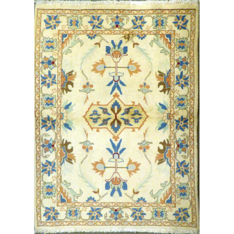 "persian rug sarough Traditional Style Hand-Knotted Indoor Area Rug with Natural Wool and Cotton (Rug 6'2"" X 4'0"") ABCRG1062"