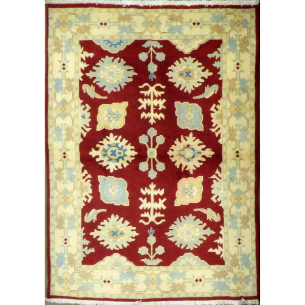 "persian rug sarough Traditional Style Hand-Knotted Indoor Area Rug with Natural Wool and Cotton (6'8"" X 4'1"") ABCRG1063"
