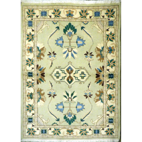 "persian rug sarough Traditional Style Hand-Knotted Indoor Area Rug with Natural Wool and Cotton (6'4"" X 4'0"") ABCRG1064"