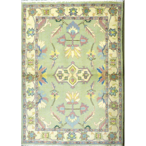 "persian rug sarough Traditional Style Hand-Knotted Indoor Area Rug with Natural Wool and Cotton (6'5"" X 4'0"") ABCRG1065"