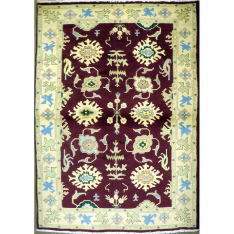 "persian rug sarough Traditional Style Hand-Knotted Indoor Area Rug with Natural Wool and Cotton (6'10"" X 4'1"") ABCRG1066"
