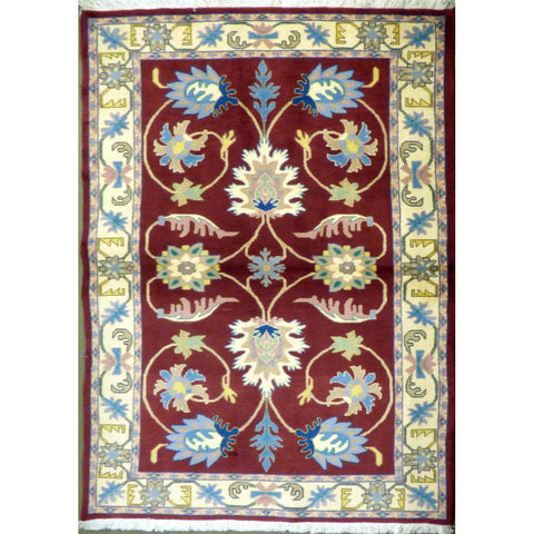 "persian rug sarough Traditional Style Hand-Knotted Indoor Area Rug with Natural Wool and Cotton (6'8"" X 4'0"") ABCRG1067"