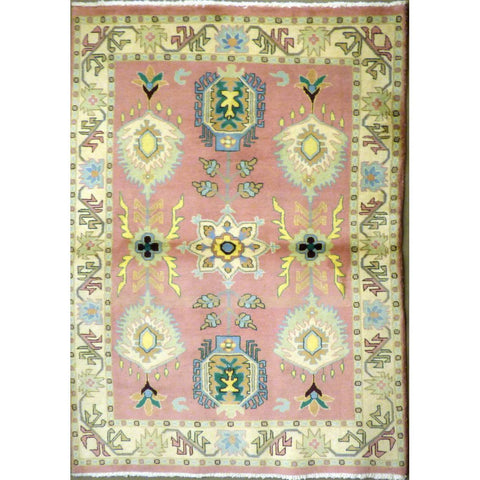 "persian rug sarough Traditional Style Hand-Knotted Indoor Area Rug with Natural Wool and Cotton (6'5"" X 4'0"") ABCRG1068"