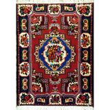 "persian rug sarough Traditional Style Hand-Knotted Indoor Area Rug with Natural Wool and Cotton (4'6"" x 3'5"") ABCRG1135"