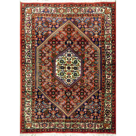 "Persian rug Seneh Traditional Style Hand-Knotted Indoor Area Rug with Natural Wool and Cotton (4'7"" X 3'5"") ABCRG1136"