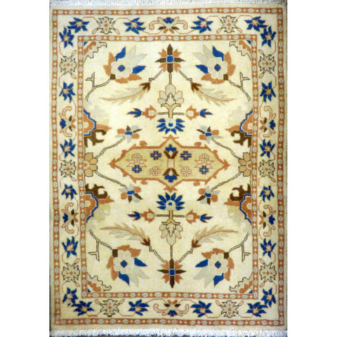 "persian rug sarough Traditional Style Hand-Knotted Indoor Area Rug with Natural Wool and Cotton (4'9"" X 3'4"") ABCRG1138"