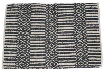 Seby Leather Rug Traditional Style for Indoor Area 5' X 8' ABCR03014