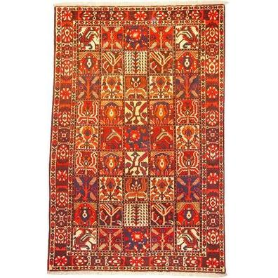 "Authentic Persian Rug bakhtiar Traditional Style Hand-Knotted Indoor Area Rug with Natural Wool and Cotton  9'11""  X  6'11"" ABCR02523"