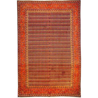 "Authentic Persian Rug museel Traditional Style Hand-Knotted Indoor Area Rug with Natural Wool and Cotton  10'9""  X  7'0"" ABCR02482"