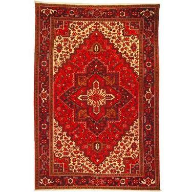 "Authentic Persian Rug heriz Traditional Style Hand-Knotted Indoor Area Rug with Natural Wool and Cotton  10'2""  X  6'10"" ABCR02345"