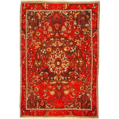 "Authentic Persian Rug bakhtiar Traditional Style Hand-Knotted Indoor Area Rug with Natural Wool and Cotton  10'4""  X  7'1"" ABCR02456"