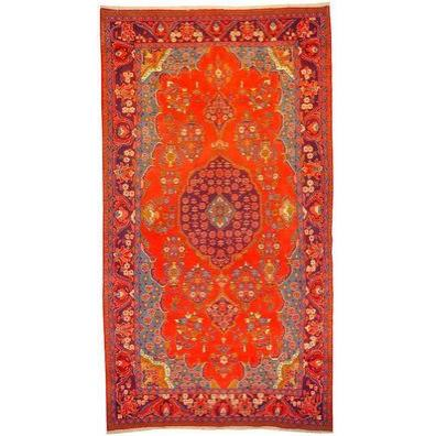 "Authentic Persian Rug museel Traditional Style Hand-Knotted Indoor Area Rug with Natural Wool and Cotton   11'11""  X  6'7"" ABCR02667"