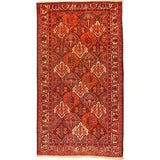 "Authentic Persian Rug bakhtiar Traditional Style Hand-Knotted Indoor Area Rug with Natural Wool and Cotton   9'8""  X  5'4"" ABCR02502"