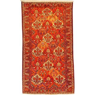 "Authentic Persian Rug bakhtiar Traditional Style Hand-Knotted Indoor Area Rug with Natural Wool and Cotton  9'9""  X  5'3"" ABCR02558"