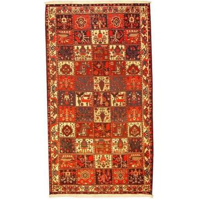 "Authentic Persian Rug bakhtiar Traditional Style Hand-Knotted Indoor Area Rug with Natural Wool and Cotton  9'10""  X  5'6"" ABCR02759"