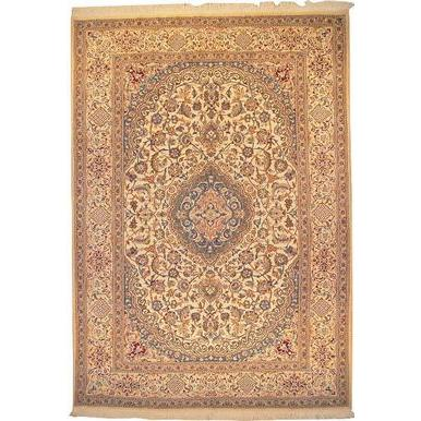 "Authentic Persian Rug nain Traditional Style Hand-Knotted Indoor Area Rug with Natural Wool and Cotton  11'5""  X  8'0"" ABCR02789"