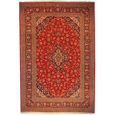"Authentic Persian Rug kashan Traditional Style Hand-Knotted Indoor Area Rug with Natural Wool and Cotton  12'0""  X  8'0"" ABCR02473"