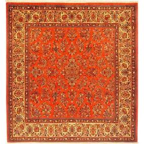 "Authentic Persian Rug sarough Traditional Style Hand-Knotted Indoor Area Rug with Natural Wool and Cotton  7'8""  X  7'2"" ABCR02875"