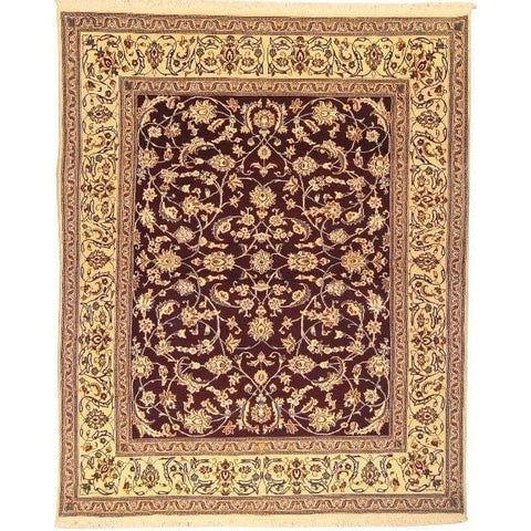 "Authentic Persian Rug nain Traditional Style Hand-Knotted Indoor Area Rug with Natural Wool and Cotton  8'1""  X  6'6"" ABCR02839"