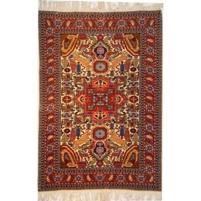 "Authentic Persian Rug ardabil Traditional Style Hand-Knotted Indoor Area Rug with Natural Wool and Cotton  6'4""  X  4'3"" ABCR02525"