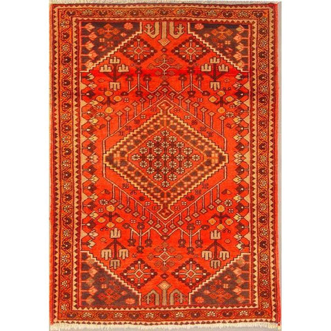 "Authentic Persian Rug bakhtiar Traditional Style Hand-Knotted Indoor Area Rug with Natural Wool and Cotton  6'1""  X  4'2"" ABCR02792"