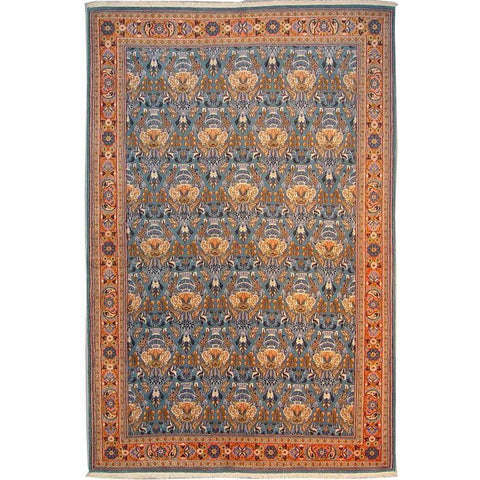 "Authentic Persian Rug nain Traditional Style Hand-Knotted Indoor Area Rug with Natural Wool and Cotton  7'10""  X  5'1"" ABCR02879"