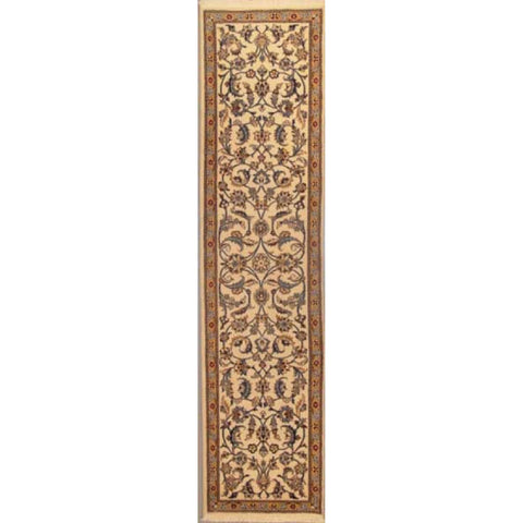 "Authentic Persian Rug nain Traditional Style Hand-Knotted Indoor Area Rug with Natural Wool and Cotton  9'10""  X  2'4"" ABCR02836"