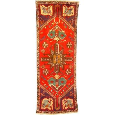 "Authentic Persian Rug museel Traditional Style Hand-Knotted Indoor Area Rug with Natural Wool and Cotton  9'1""  X  3'0"" ABCR02490"