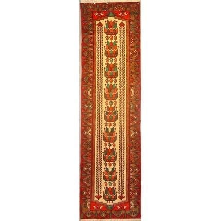 "Authentic Persian Rug saveh Traditional Style Hand-Knotted Indoor Area Rug with Natural Wool and Cotton  9'4""  X  2'7"" ABCR02161"