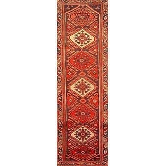 "Authentic Persian Rug saveh Traditional Style Hand-Knotted Indoor Area Rug with Natural Wool and Cotton  9'3""  X  2'9"" ABCR02341"