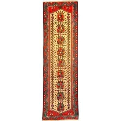 "Authentic Persian Rug saveh Traditional Style Hand-Knotted Indoor Area Rug with Natural Wool and Cotton   9'2""  X  2'9"" ABCR02147"