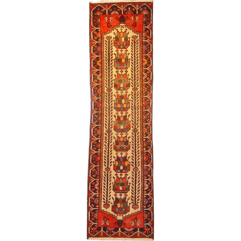"Authentic Persian Rug saveh Traditional Style Hand-Knotted Indoor Area Rug with Natural Wool and Cotton  9'2""  X  2'3"" ABCR02869"