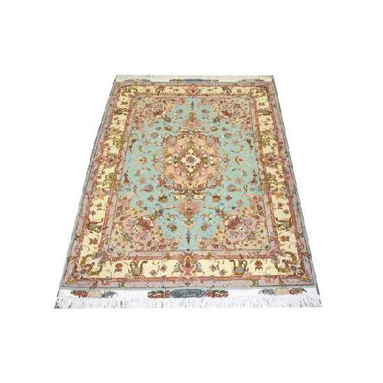 "Authentic Persian Rug tabriz Traditional Style Hand-Knotted Indoor Area Rug with Natural Wool and Cotton  6'8""  X  4'10"" ABCR02224"