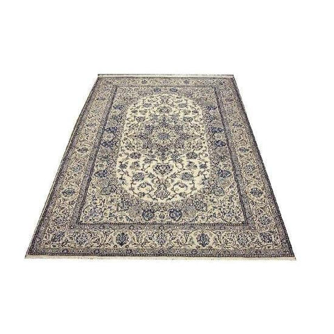 "Authentic Persian Rug nain Traditional Style Hand-Knotted Indoor Area Rug with Natural Wool and Cotton  10'10""  X  6'8"" ABCR02408"