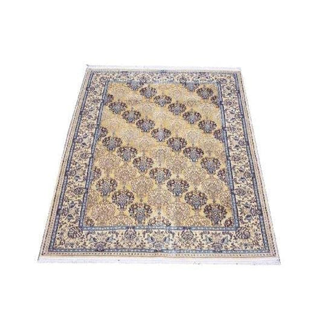 "Authentic Persian Rug nain Traditional Style Hand-Knotted Indoor Area Rug with Natural Wool and Cotton  6'0""  X  4'4"" ABCR02411"