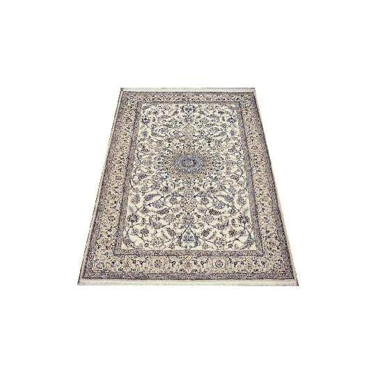 "Authentic Persian Rug nain Traditional Style Hand-Knotted Indoor Area Rug with Natural Wool and Cotton  6'8""  X  4'3"" ABCR02413"