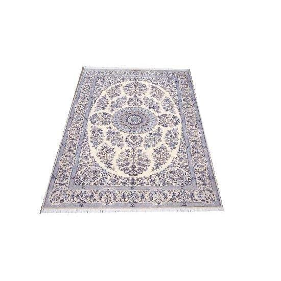 "Authentic Persian Rug nain Traditional Style Hand-Knotted Indoor Area Rug with Natural Wool and Cotton  7'8""  X  5'1"" ABCR02415"