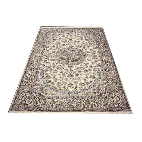 "Authentic Persian Rug nain Traditional Style Hand-Knotted Indoor Area Rug with Natural Wool and Cotton  10'2""  X  6'8"" ABCR02416"