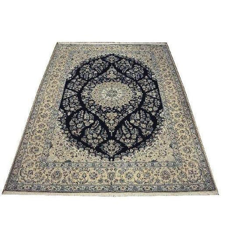 "Authentic Persian Rug nain Traditional Style Hand-Knotted Indoor Area Rug with Natural Wool and Cotton  113'4""  X  9'10"" ABCR02422"