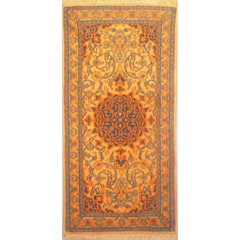 "Authentic Persian Rug nain Traditional Style Hand-Knotted Indoor Area Rug with Natural Wool and Cotton  4'5""  X  2'2"" ABCR02860"