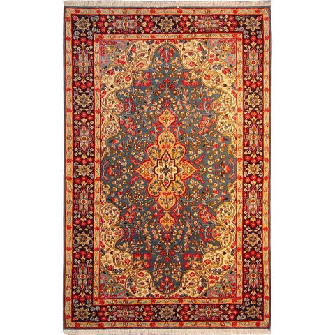 "Authentic Persian Rug sarough Traditional Style Hand-Knotted Indoor Area Rug with Natural Wool and Cotton  8'4""  X  5'6"" ABCR02871"