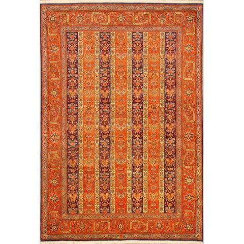 "Authentic Persian Rug zabol Traditional Style Hand-Knotted Indoor Area Rug with Natural Wool and Cotton  9'10""  X  6'6"" ABCR02813"