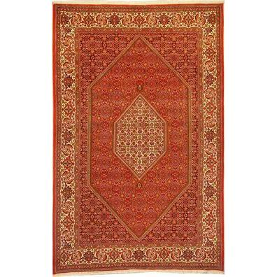 "Authentic Persian Rug bidjar Traditional Style Hand-Knotted Indoor Area Rug with Natural Wool and Cotton  10'5""  X  6'8"" ABCR02858"
