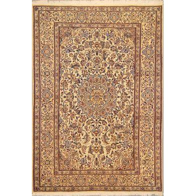 "Authentic Persian Rug nain Traditional Style Hand-Knotted Indoor Area Rug with Natural Wool and Cotton  10'0""  X  6'8"" ABCR02810"