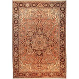"Authentic Persian Rug heriz Traditional Style Hand-Knotted Indoor Area Rug with Natural Wool and Cotton  9'7""  X  6'5"" ABCR02093"