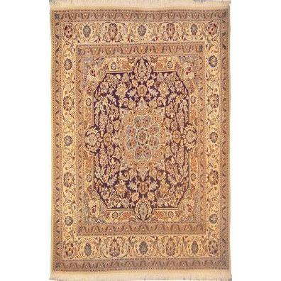 "Authentic Persian Rug nain Traditional Style Hand-Knotted Indoor Area Rug with Natural Wool and Cotton  6'8""  X  6'5"" ABCR02781"