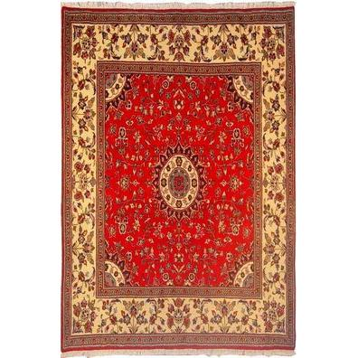 "Authentic Persian Rug yazd Traditional Style Hand-Knotted Indoor Area Rug with Natural Wool and Cotton  6'5""  X  6'5"" ABCR02895"