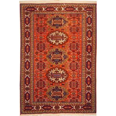"Authentic Persian Rug ardabil Traditional Style Hand-Knotted Indoor Area Rug with Natural Wool and Cotton  6'6""  X  4'7"" ABCR02485"