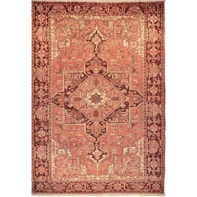 "Authentic Persian Rug heriz Traditional Style Hand-Knotted Indoor Area Rug with Natural Wool and Cotton  11'9""  X  8'0"" ABCR02096"
